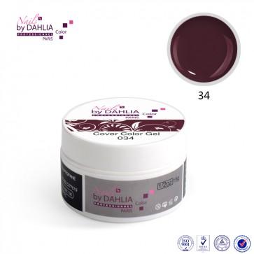 Dahlia Color Gel UV  de finition  couleurs N°34