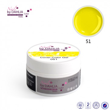 Dahlia Color Gel UV  de finition  couleurs N°51