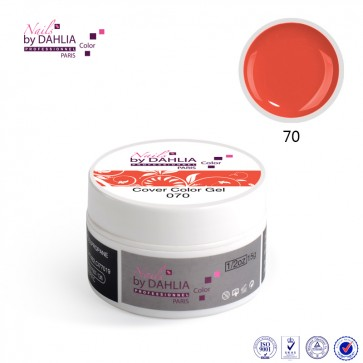 Dahlia Color Gel UV  de finition  couleurs N°70