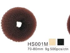 Dahlia Color Crêpon Couronne (boudin) pour Chignon, cheveux, Taille M,  3 couleurs  HS001M