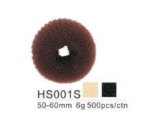 Dahlia Color Crêpon Couronne (boudin) pour Chignon, cheveux, Taille 50-60 mm 3 couleurs  HS001S