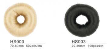 Dahlia Color Crêpon Couronne (boudin) pour Chignon, cheveux, Taille XL,  3 couleurs HS003