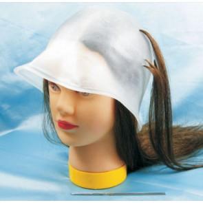 Dahlia Color Bonnet de mèches blanc avec crochet