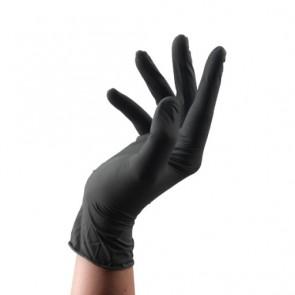Dahlia Color Paire de Gants réutilisables en latex noire