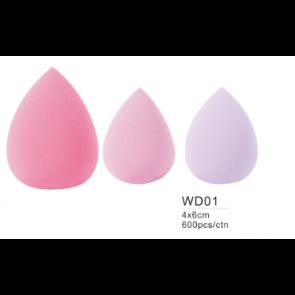 Dahlia Color beauty blender forme d'oeuf en mousse maquillage teint.